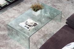 11 mesa de centro cristal curvo