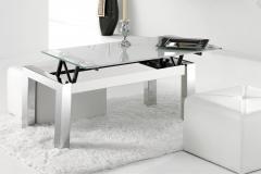 07 mesa elevable cristal cromo