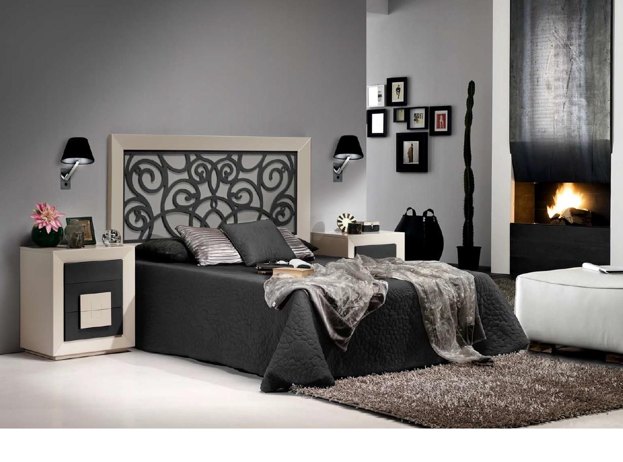 Dormitorios de matrimonio muebles montanaro for Dormitorio matrimonio negro